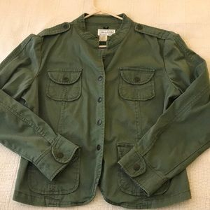 Military Inspired Jean Jacket